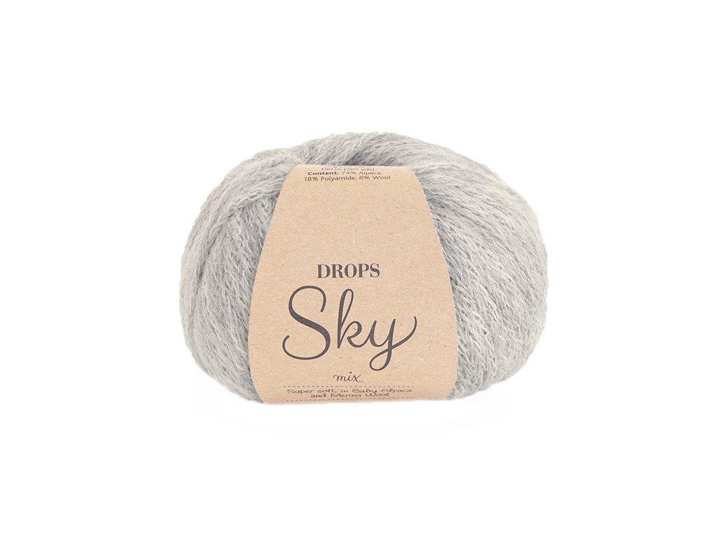 Příze Drops Sky Mix 03 - perlově šedá