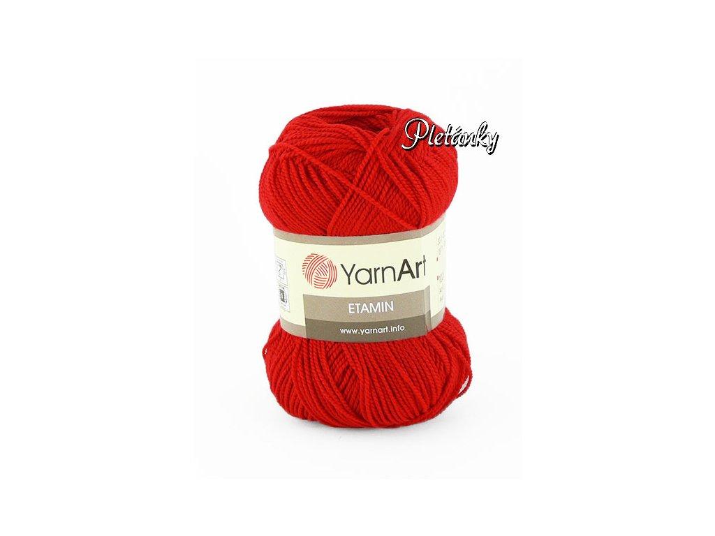 Etamin 434 - křiklavá červená
