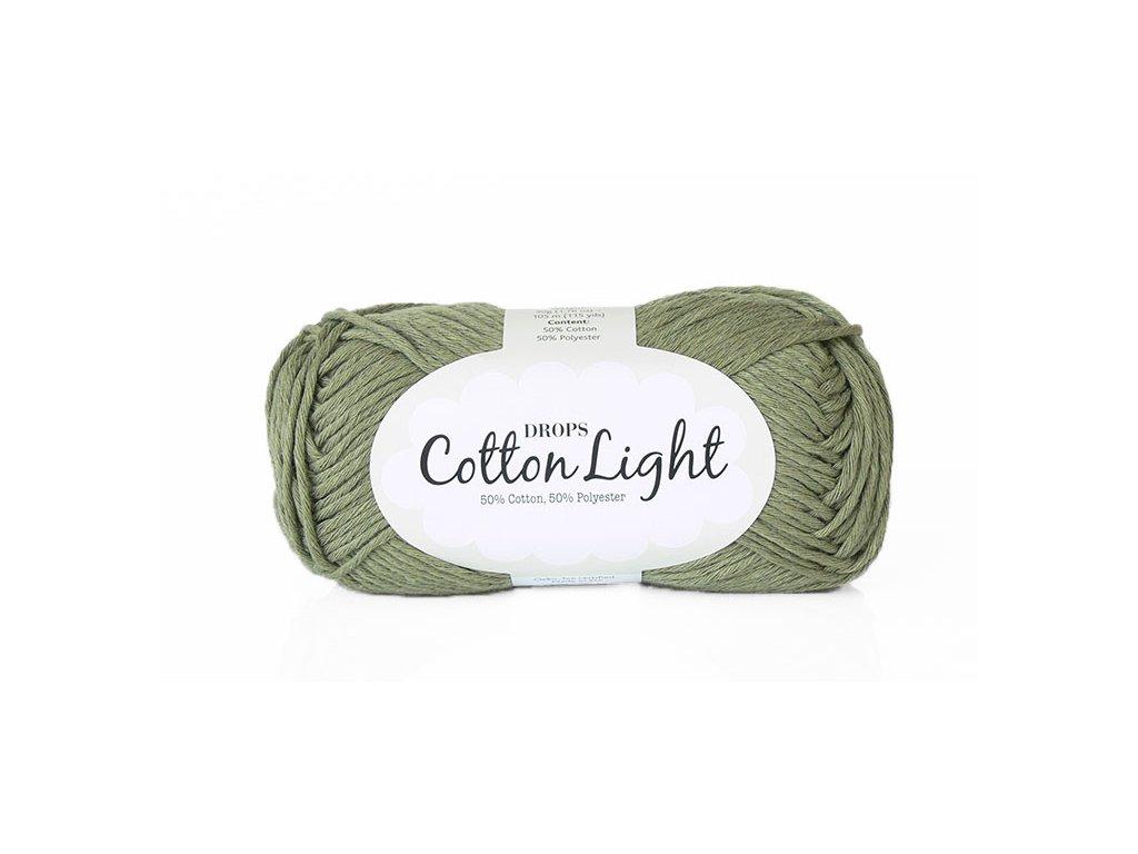 Příze DROPS Cotton light 12 - olivová