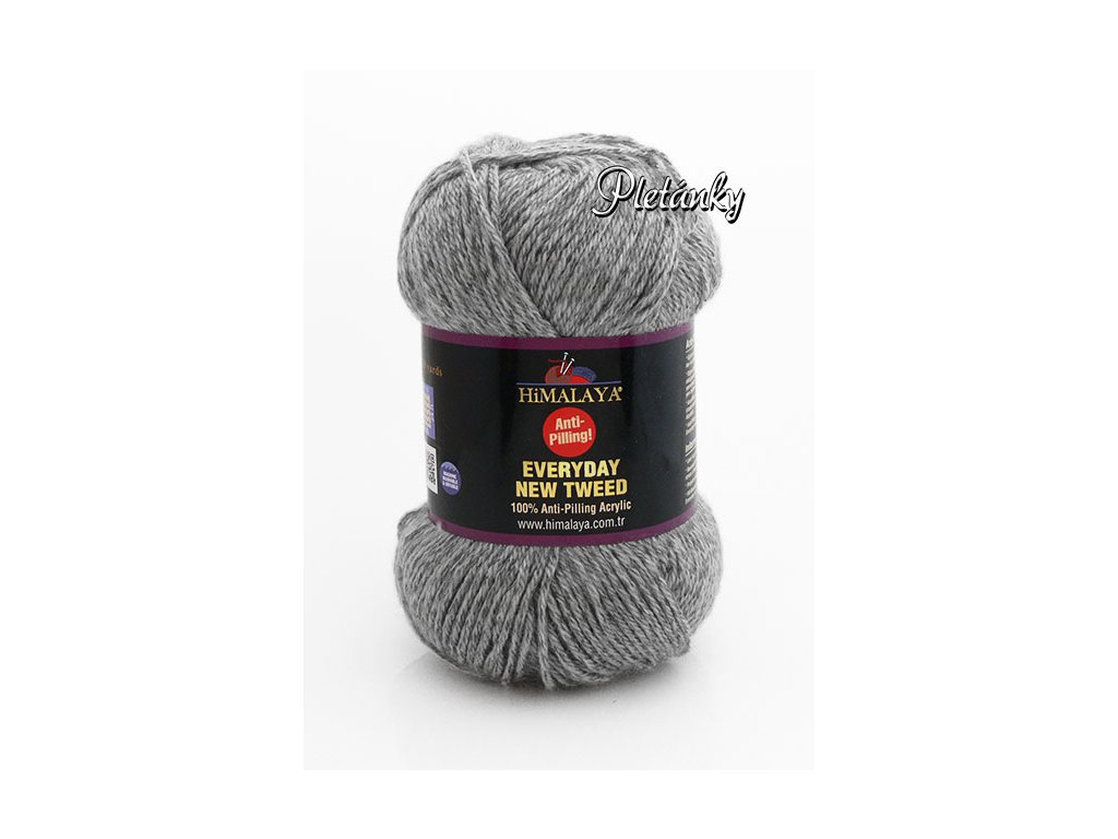 Příze Everyday New Tweed 75111 - šedá melange