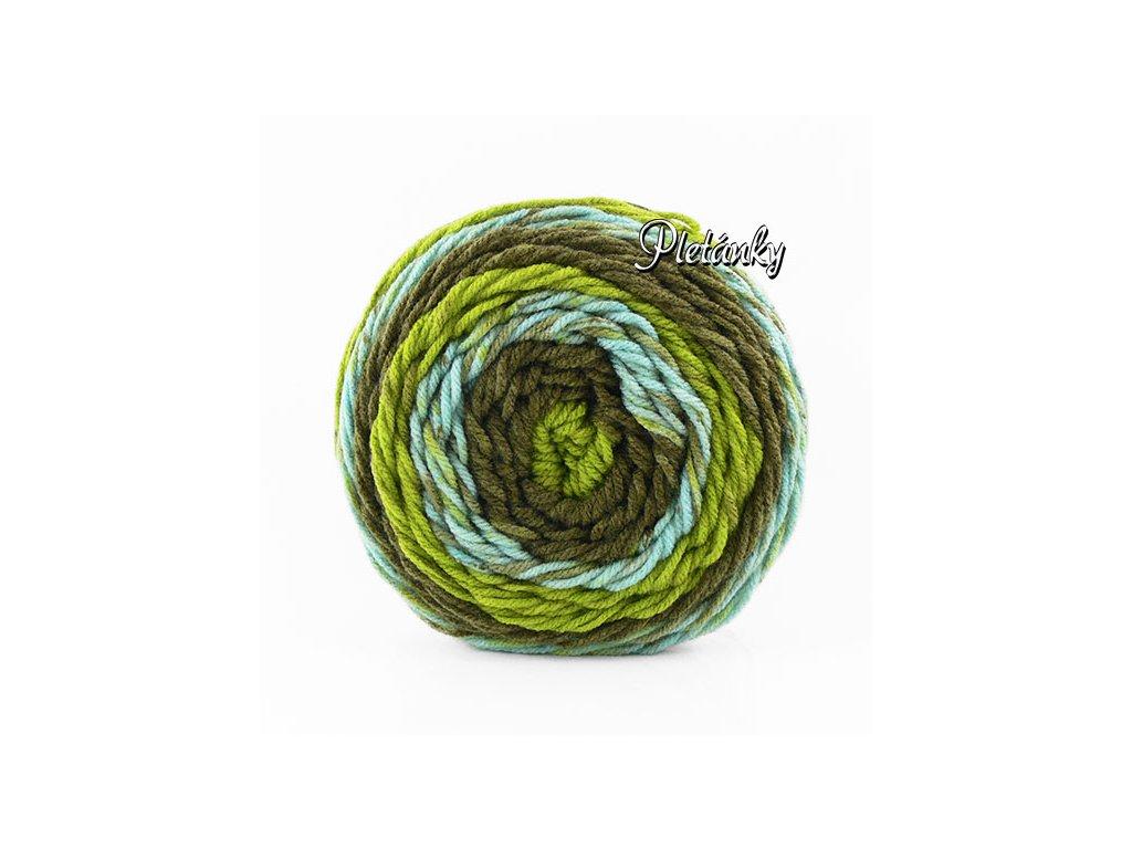 Sweet roll 1047-26 - odstíny zelené, khaki, světle tyrkysové