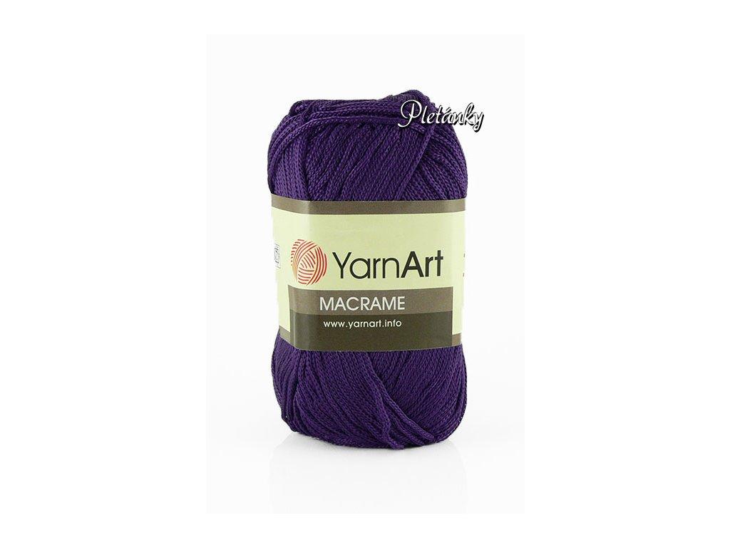 Macrame 167 - tmavá fialová