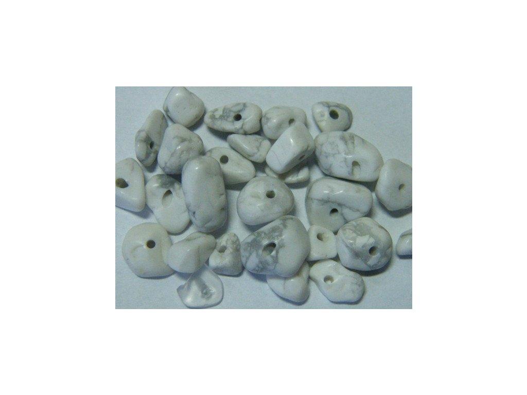 Magnezit, zlomky, 10cm návleku, cca 6 - 9g
