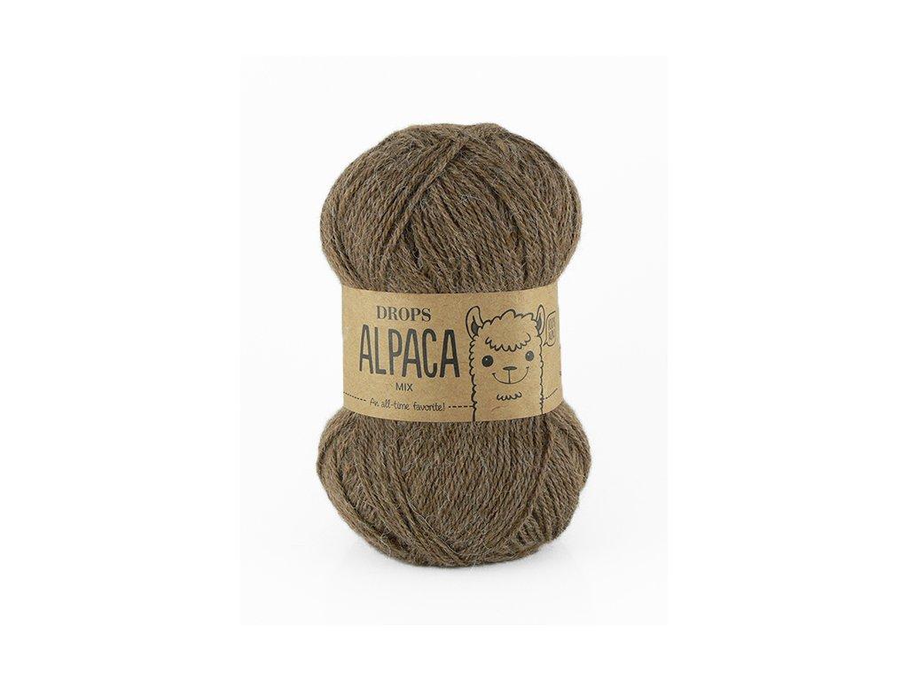 Příze DROPS Alpaca uni colour 0607 - světlá hnědá