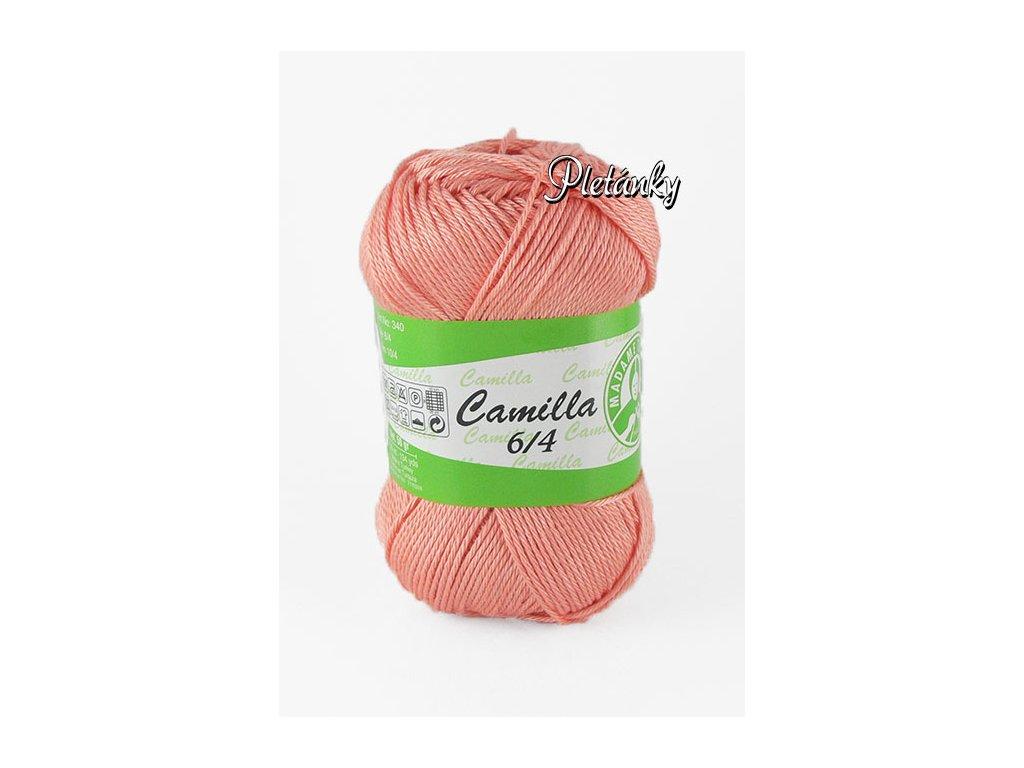 Příze Camilla 6/4, 4934 - lososová