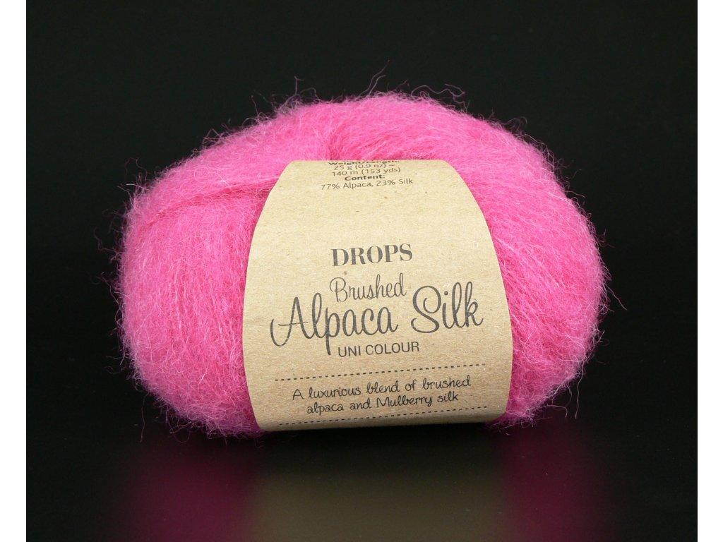 Příze DROPS Brushed Alpaca Silk 18 - pink