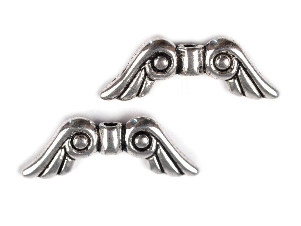 Kovová křídla 5x15mm 230995, platina