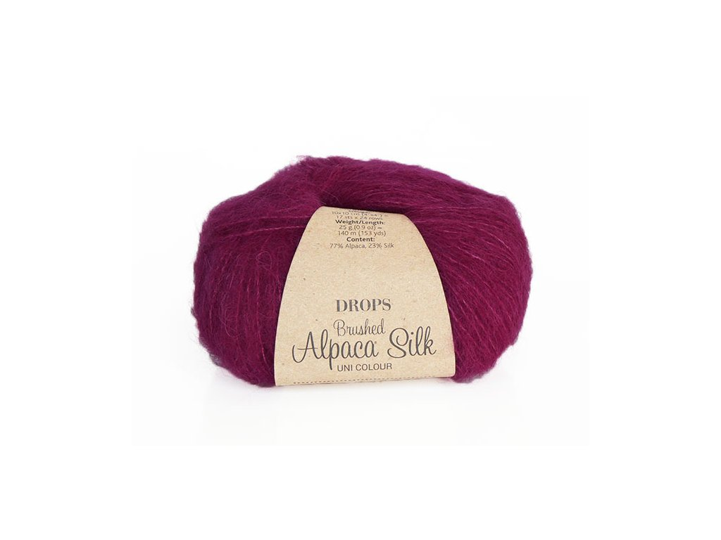 Příze DROPS Brushed Alpaca Silk 09 - fuchsiová
