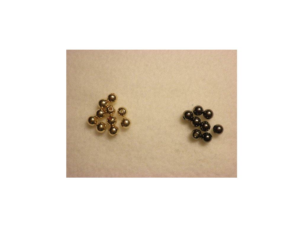 Perličky GLANCE METALIC plast kulička 4mm, 10g, tmavě šedá