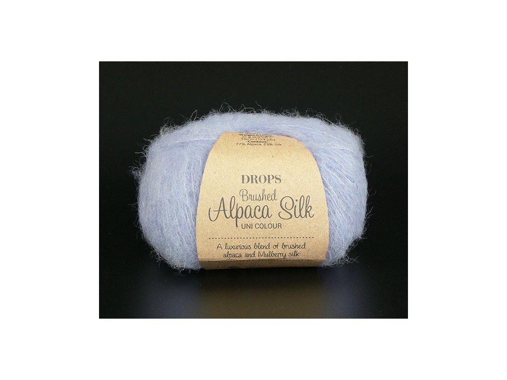 Příze DROPS Brushed Alpaca Silk uni color 17 - levandulová