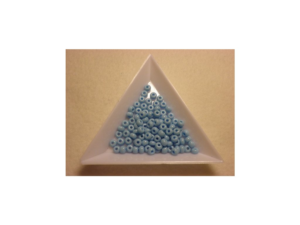 Rokajl skleněný Preciosa 4mm neprůhledný, světle modrá, 20g