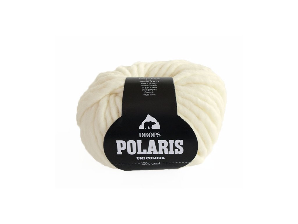 Příze DROPS Polaris uni colour 01 - smetanová