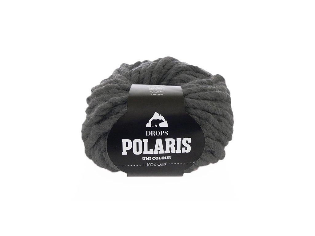 Příze DROPS Polaris uni colour 03 - tmavá šedá