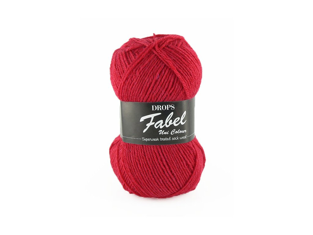 Příze DROPS Fabel Unicolor 106 - červená