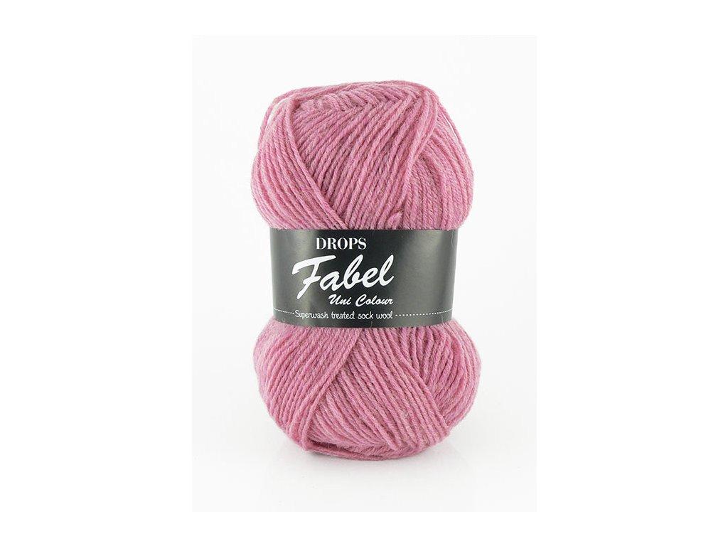Příze DROPS Fabel Unicolor 102 - růžová