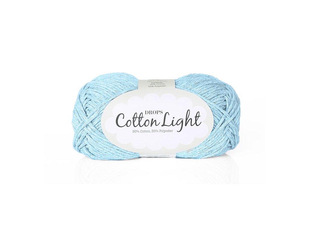 Příze DROPS Cotton light 08 - světle modrá