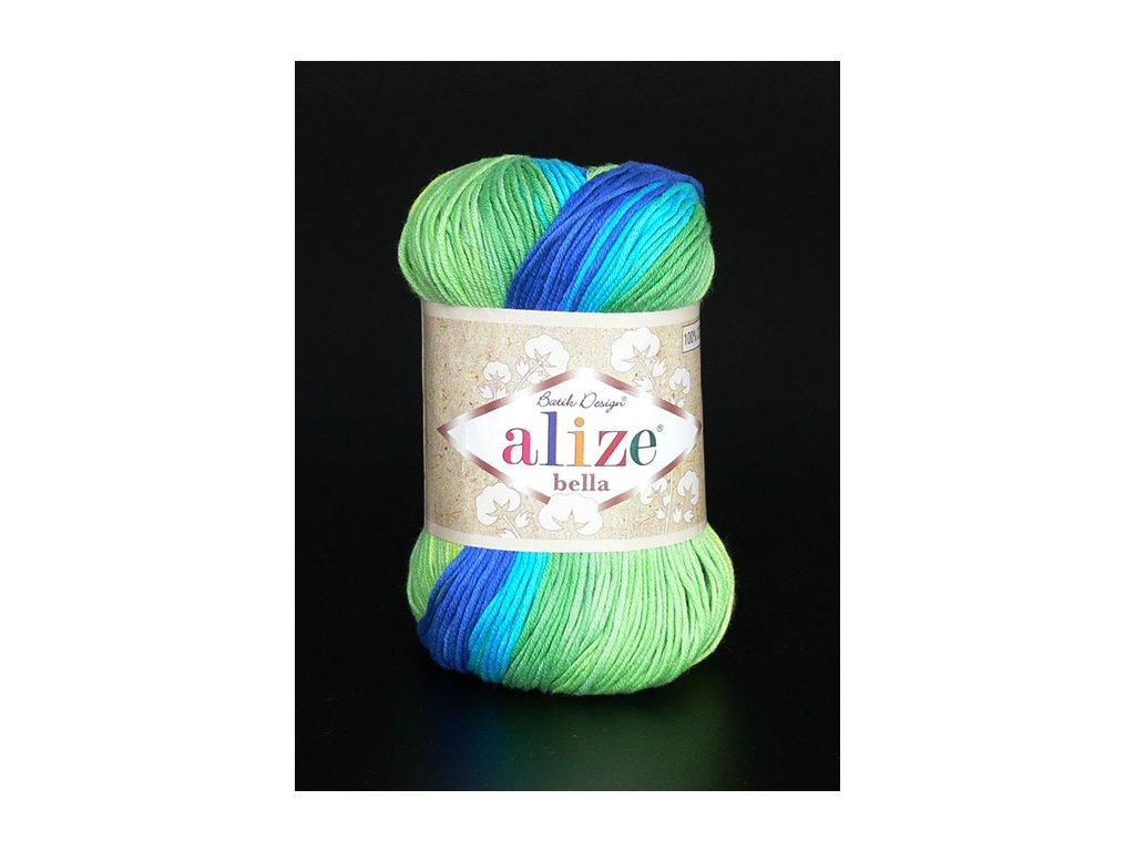 Příze Bella Batik 4150 - modrá, zelená
