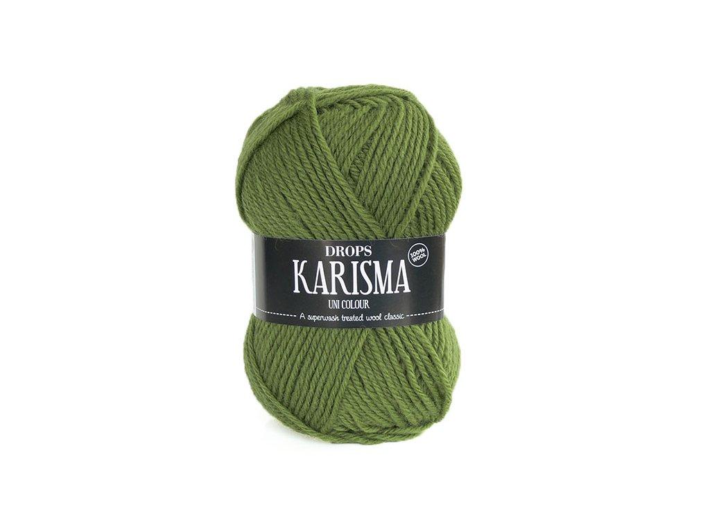 Příze DROPS Karisma uni colour 45 - světlá olivová