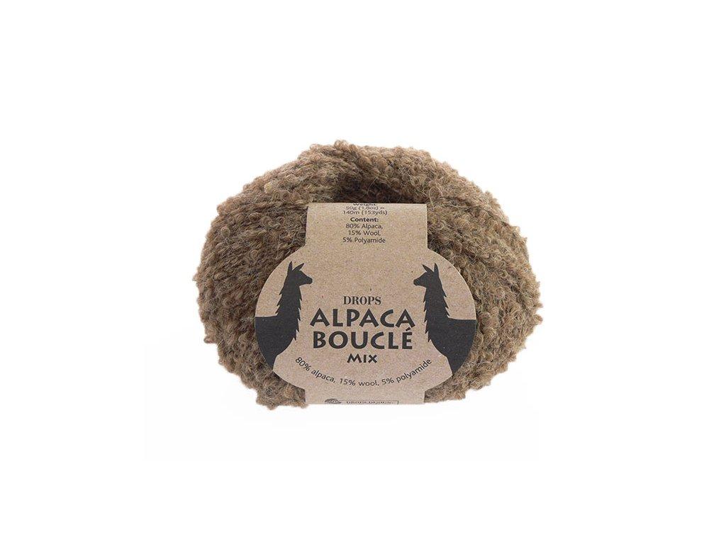 Příze DROPS Alpaca Bouclé mix 0602 - hnědá
