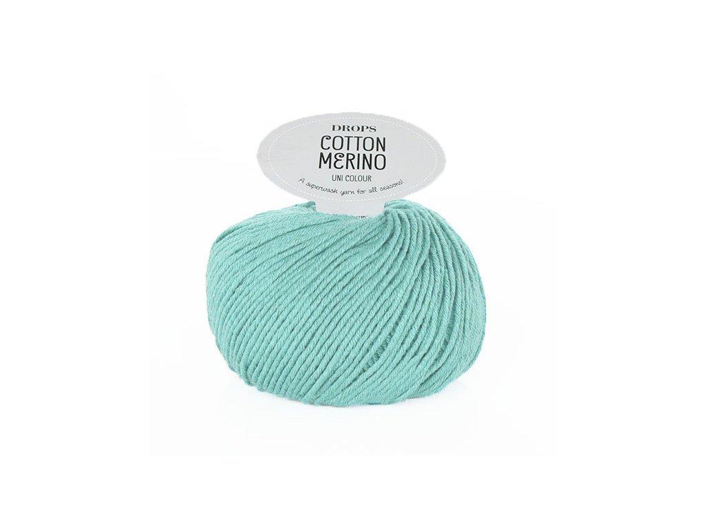 Příze DROPS Cotton Merino 29 - šedozelená