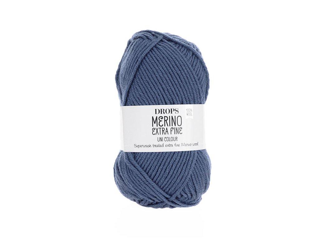 Příze DROPS Merino Extra Fine uni color 13 -  džínově modrá