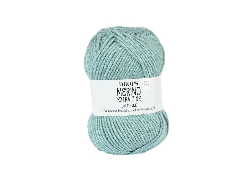 Příze DROPS Merino Extra Fine uni color 15 - světlá šedozelená