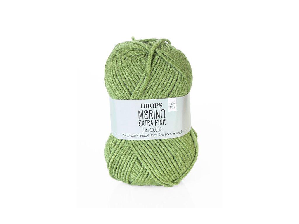 Příze DROPS Merino Extra Fine uni color 18 - zelená