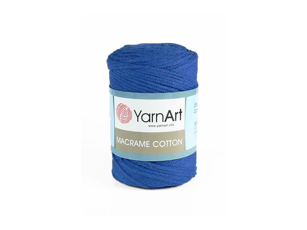 17336 2 prize macrame cotton 776 kralovska modra