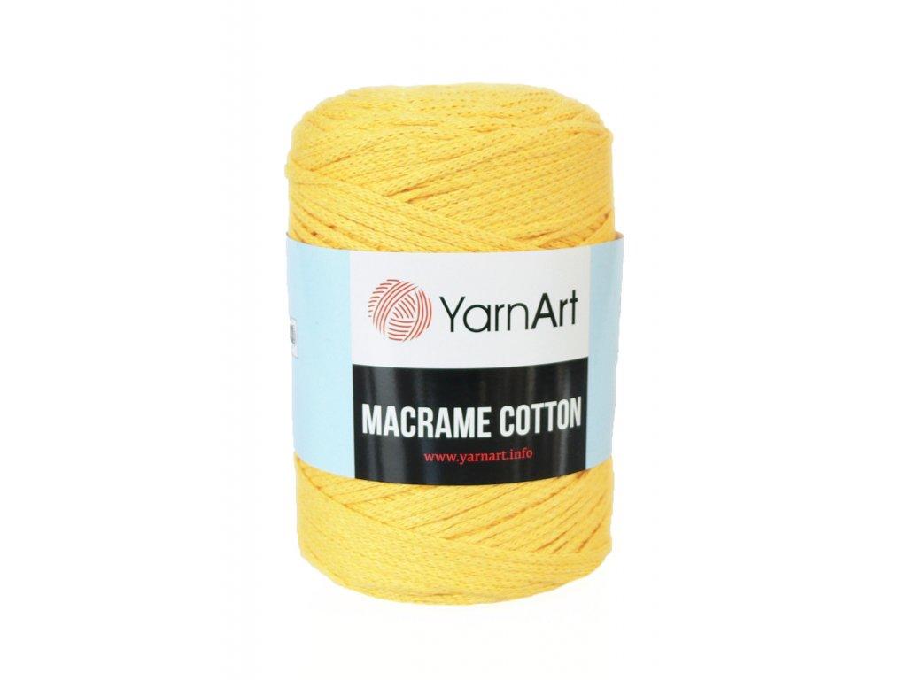 17645 prize macrame cotton 764 zluta