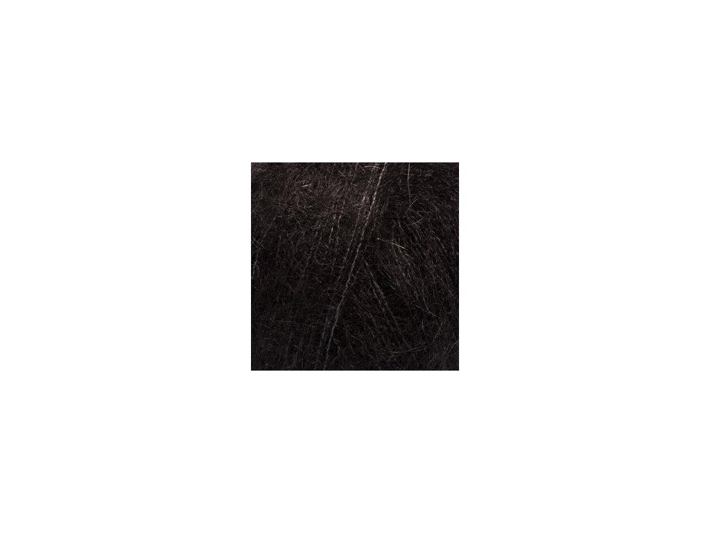Příze DROPS Kid-Silk uni colour 02 - černá
