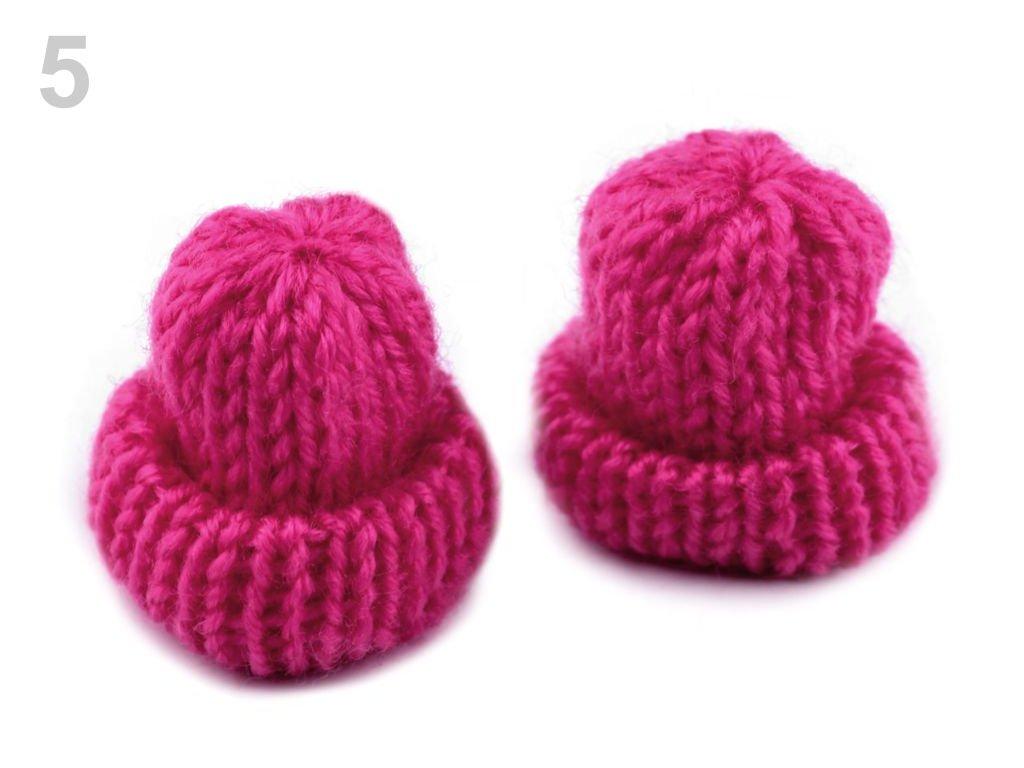 Aplikace Čepička pletená 400043 - 5 pink