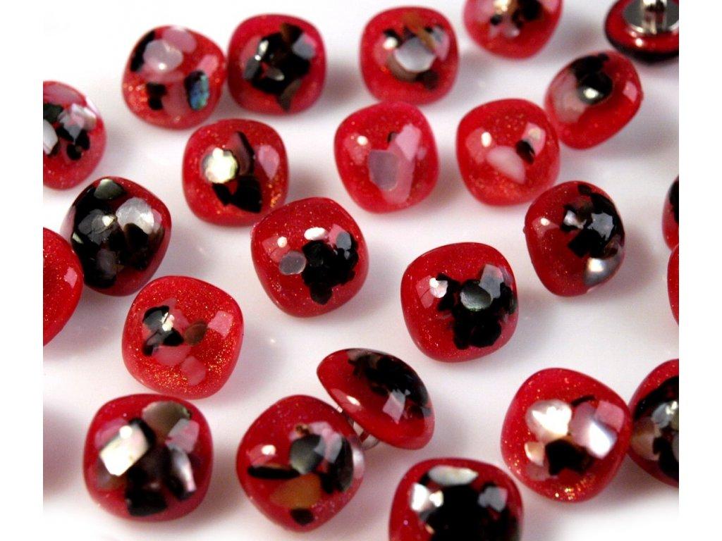 """Knoflík 20"""" (12,7 mm) EXTRA - červená"""