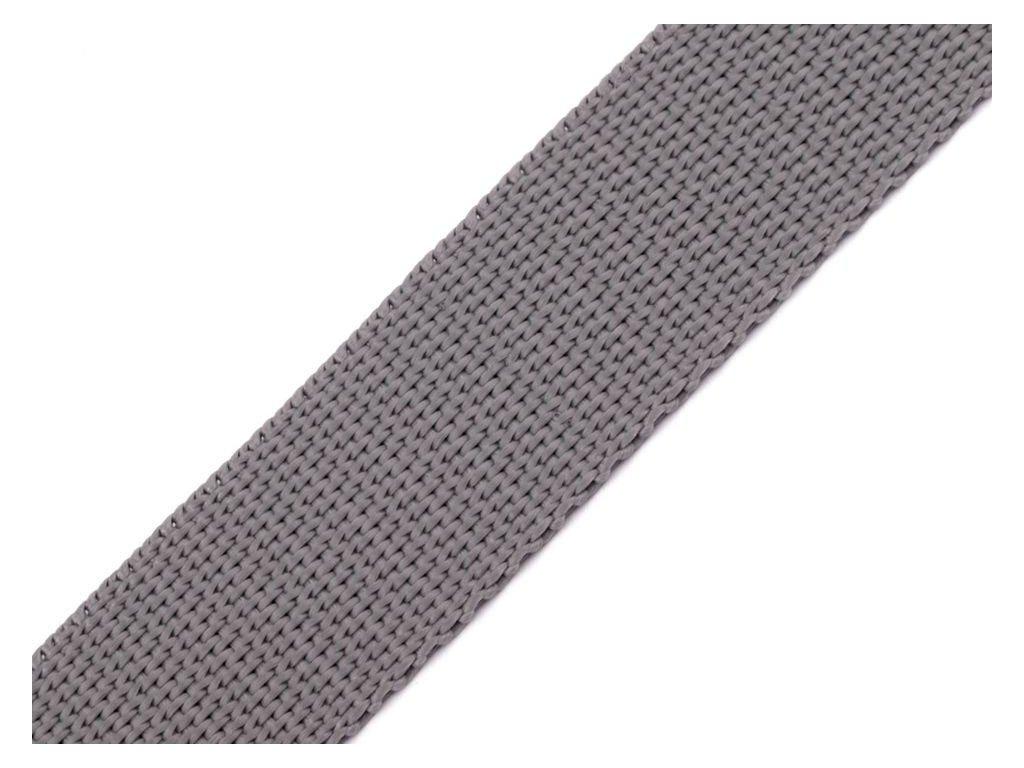 Popruh polypropylenový šíře 20 mm 490051, metráž - 88 šedá perlová