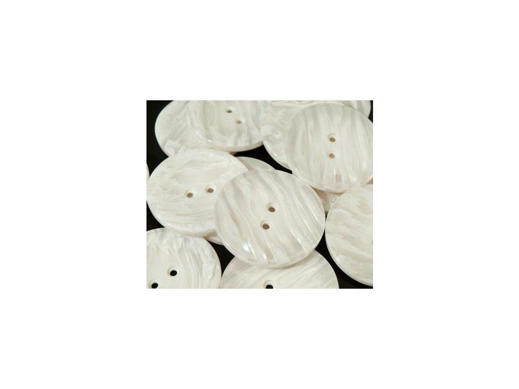 """Knoflík 60"""" PEARL 110697, bílá perleť - 1"""