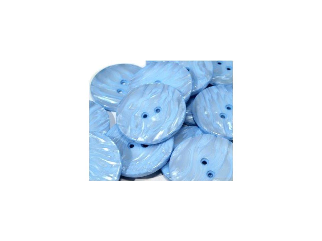 """Knoflík 60"""" PEARL, 110697, modrá jemná - 8"""