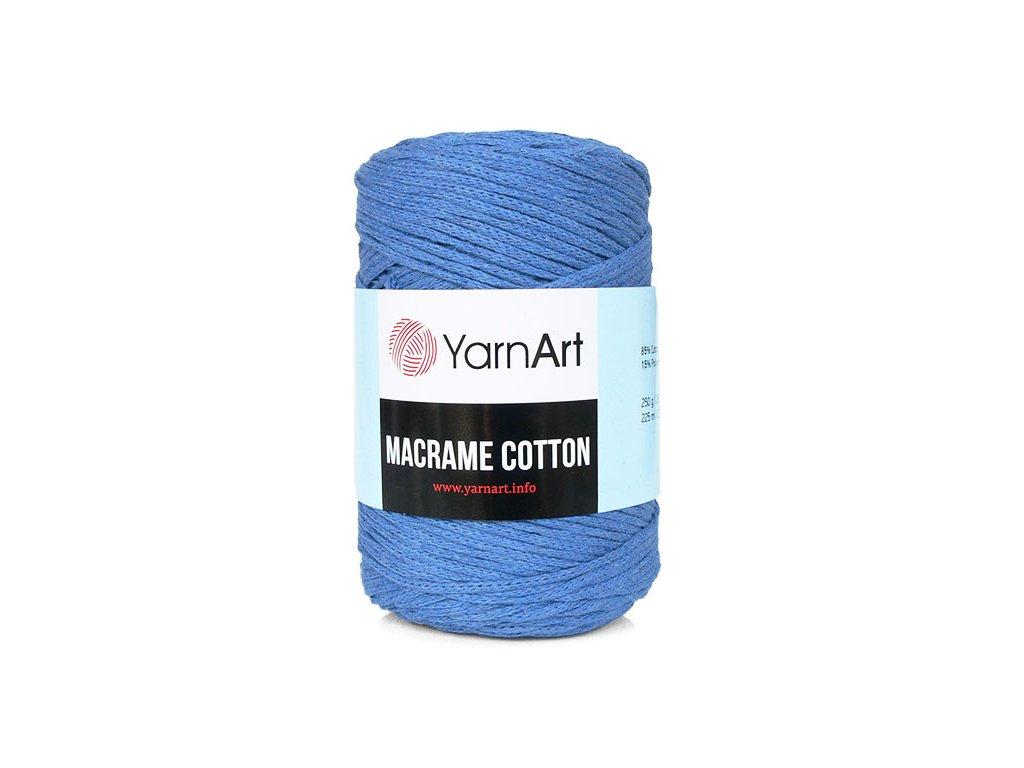 Příze Macrame Cotton 786 - modrá