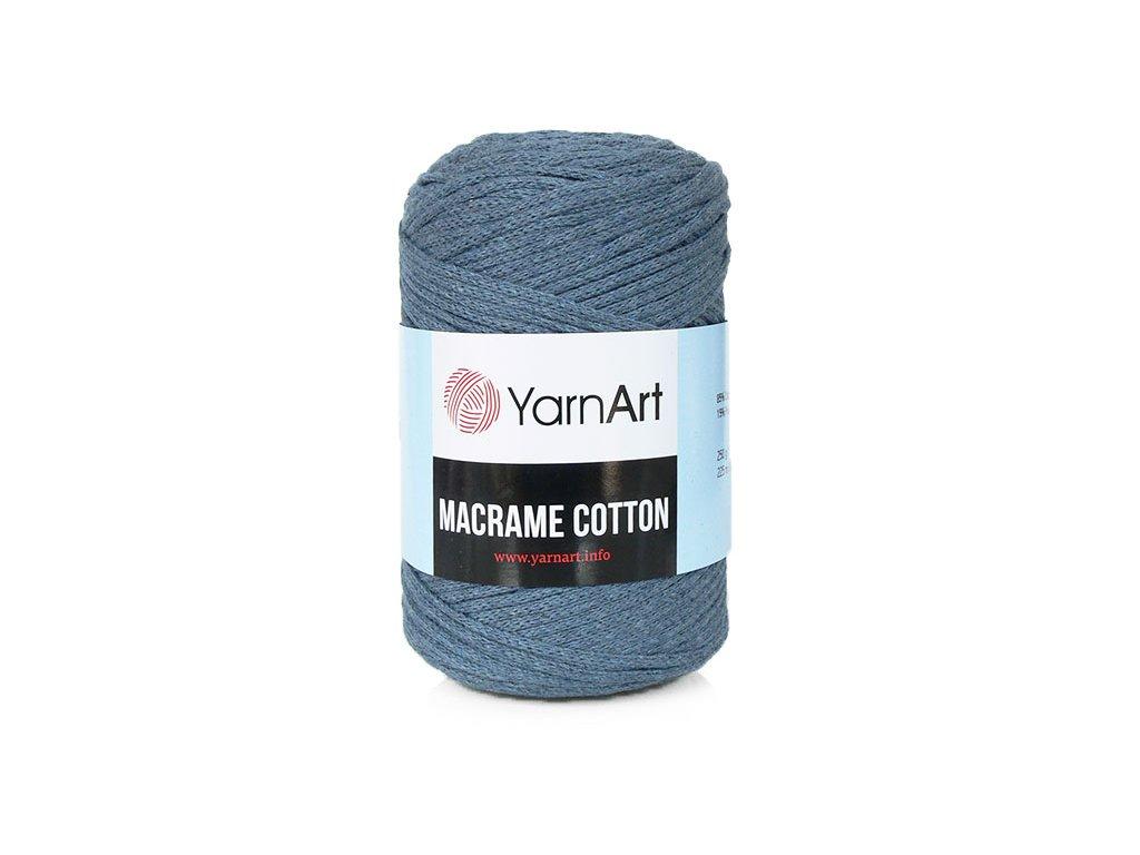 Příze Macrame Cotton 761 - tmavá šedomodrá