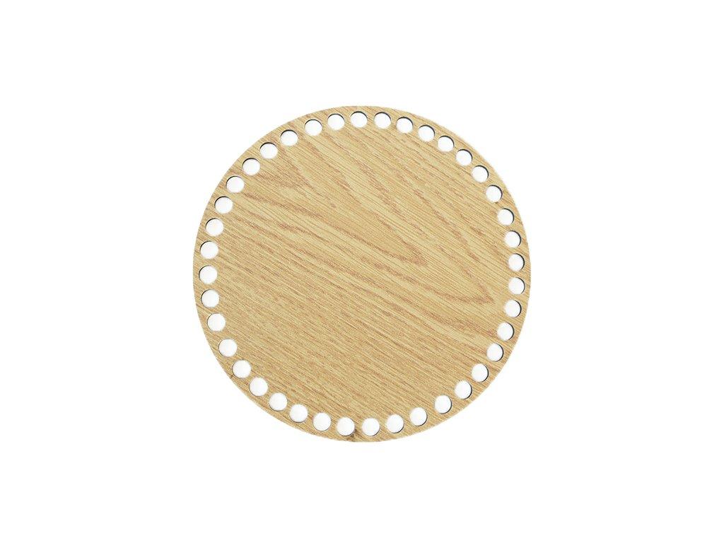 Dřevěné dno dekor dub kruh 17 cm