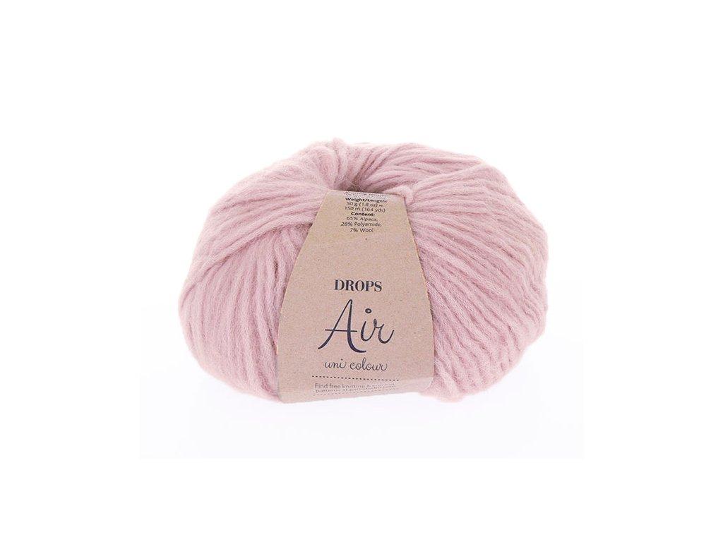 Příze Drops Air uni color 24 - růžová