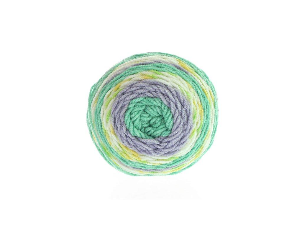 Sweet roll 1047-28 -zelená-šedá-žlutá-smetanová
