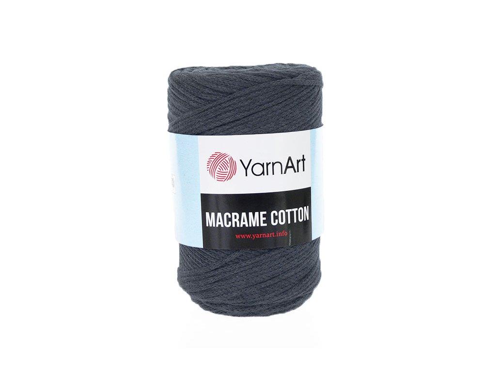 Příze Macrame Cotton 758 - tmavá šedá
