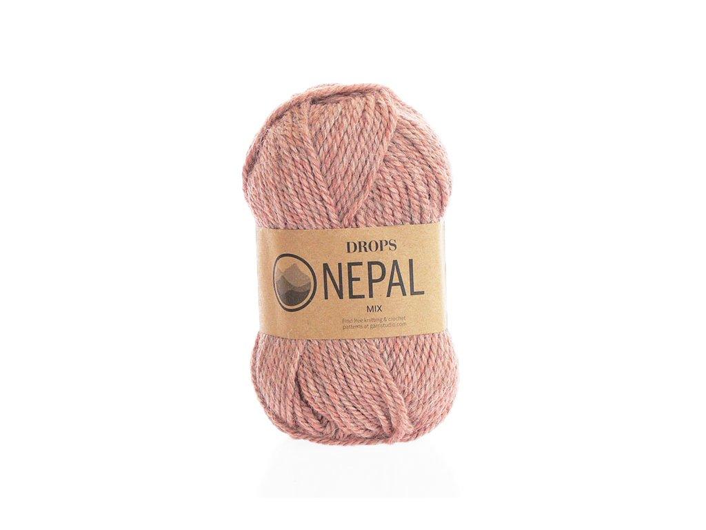 Příze DROPS Nepal mix 8912 - pudrová růž