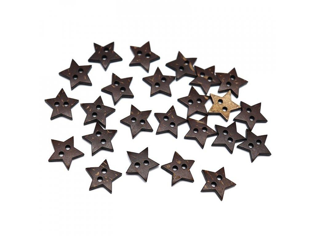 star coconut button