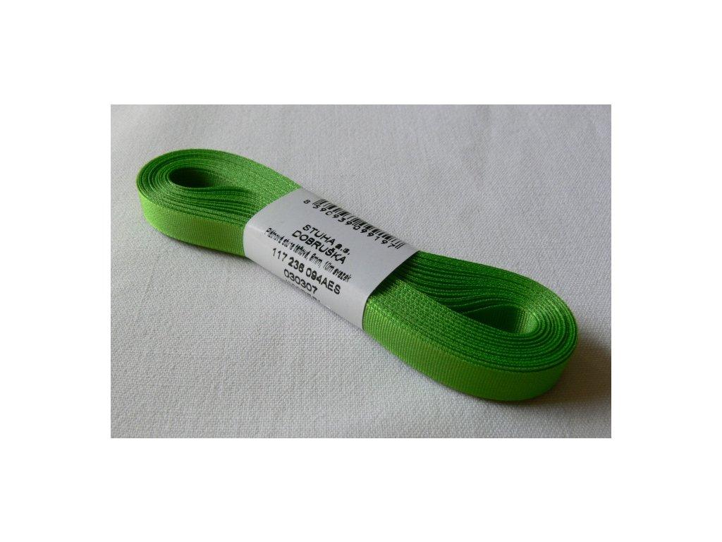 Stuha taftová 9 mm, jarní zeleň - 307