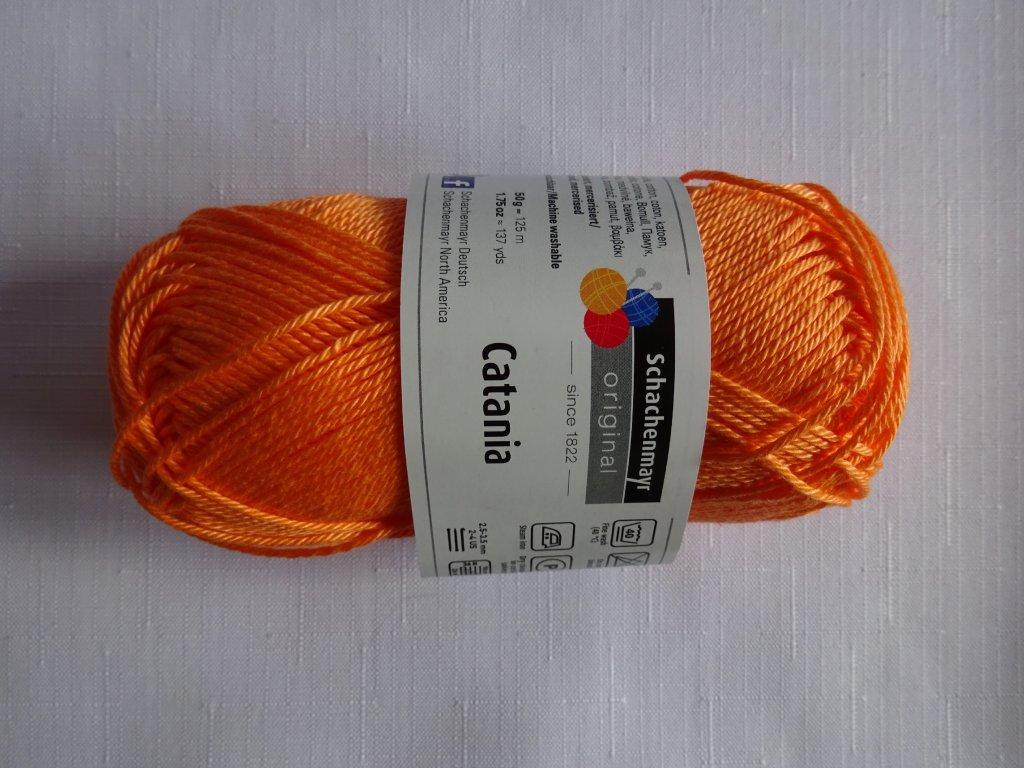 Příze Catania 386 - oranžovo lososová