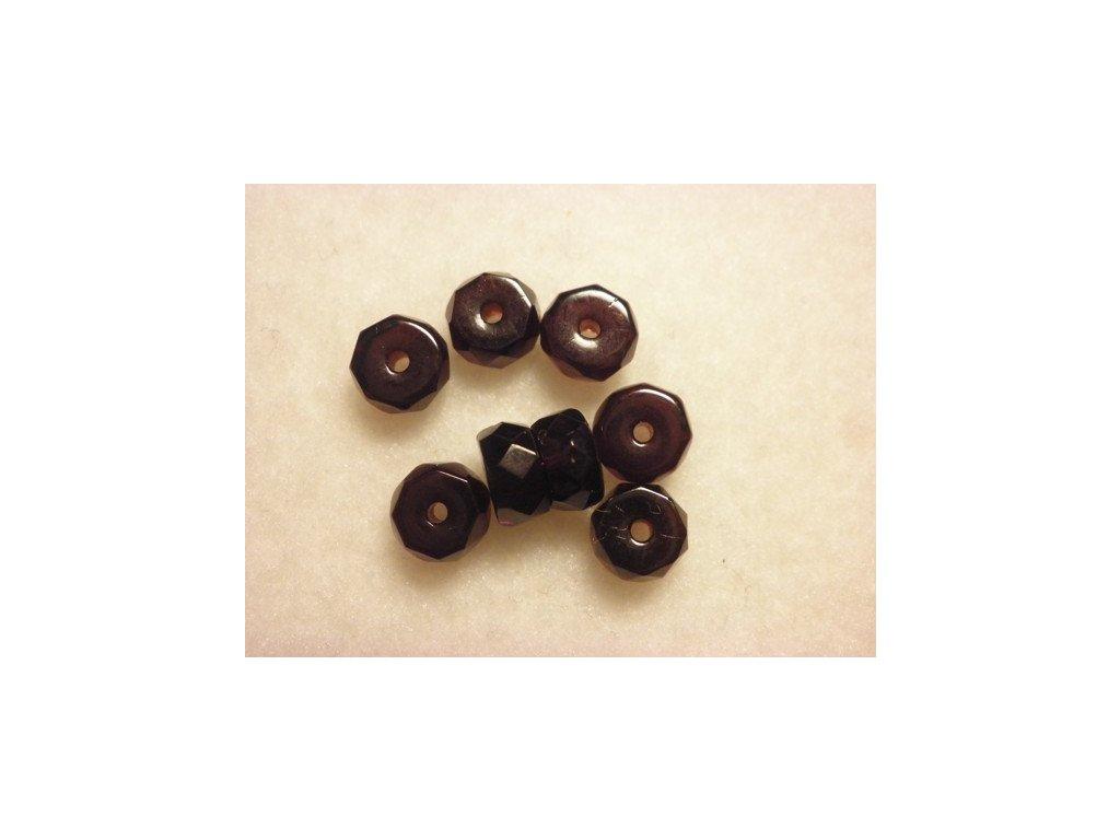 Broušené rondelky 6x3mm, garnet