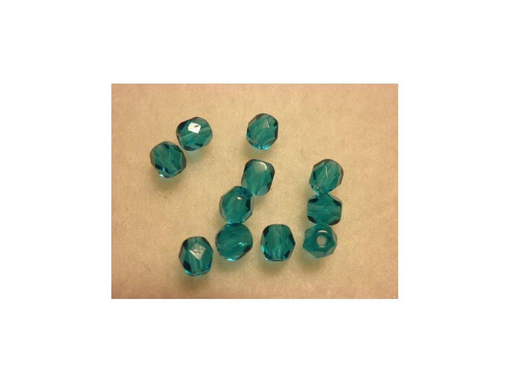 Ohňovky 4mm, smaragdová