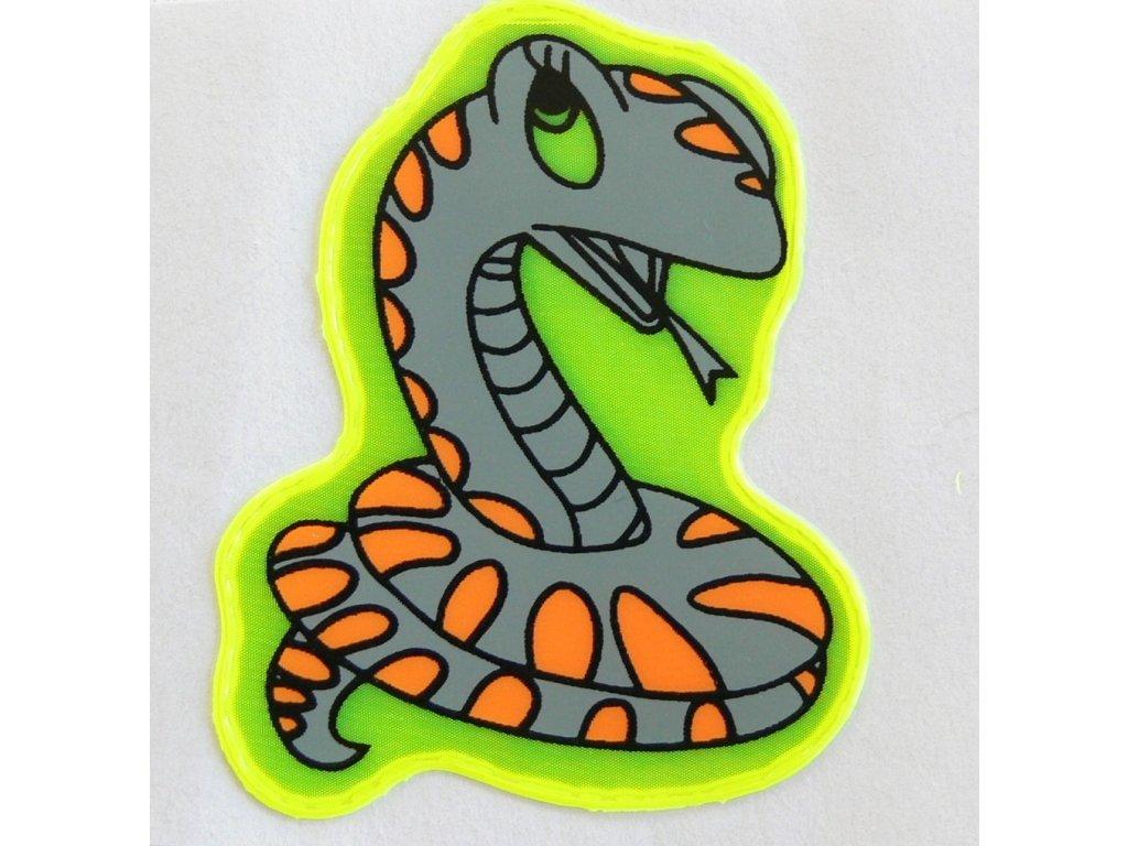 Reflexní samolepka - had