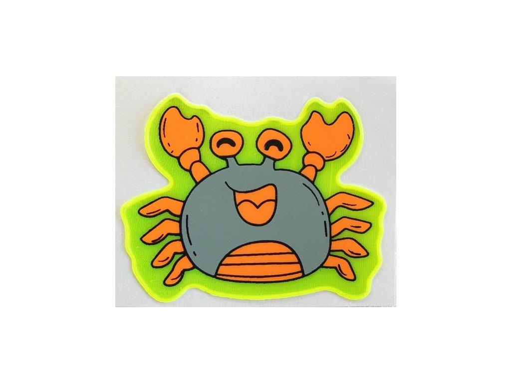 Reflexní samolepka - krab