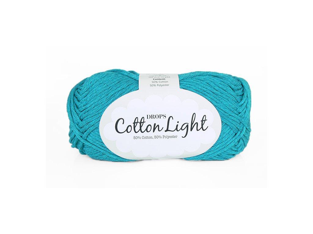 Příze DROPS Cotton light 14 - tyrkysová